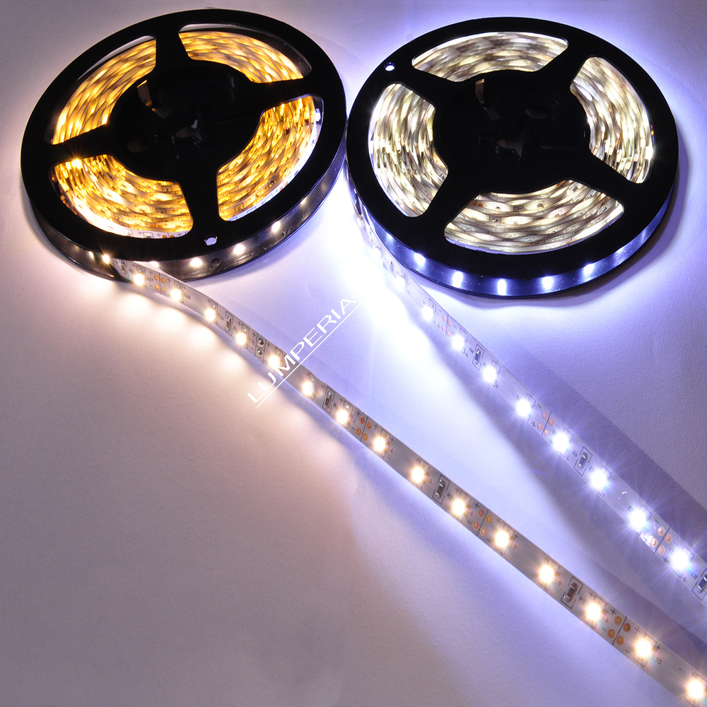 LED Leiste 12V DC 3528 60 SMD/m 5m/Rolle Strip IP20 band