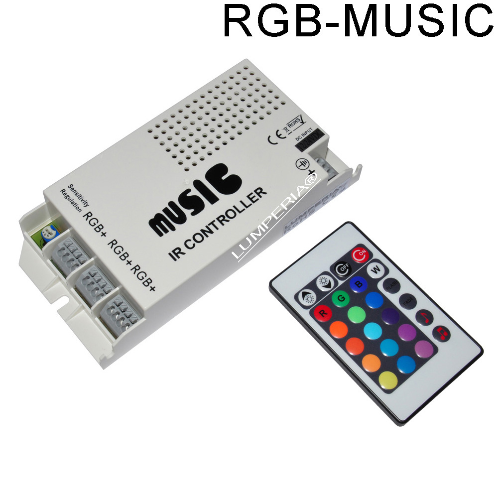 led rgb musik controller ansteuerung 60w 12v 24v music steuerger t g nstig f r 23 9 online kaufen. Black Bedroom Furniture Sets. Home Design Ideas
