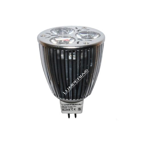 CREE High Power LED Strahler MR16 GU5.3 3x2W Alu